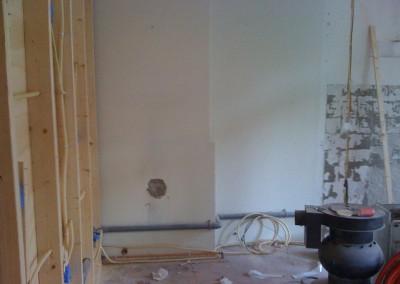 Nieuwe slaapkamer in aanbouw